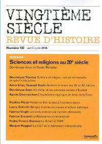 Sciences et religions au 20e siècle couv