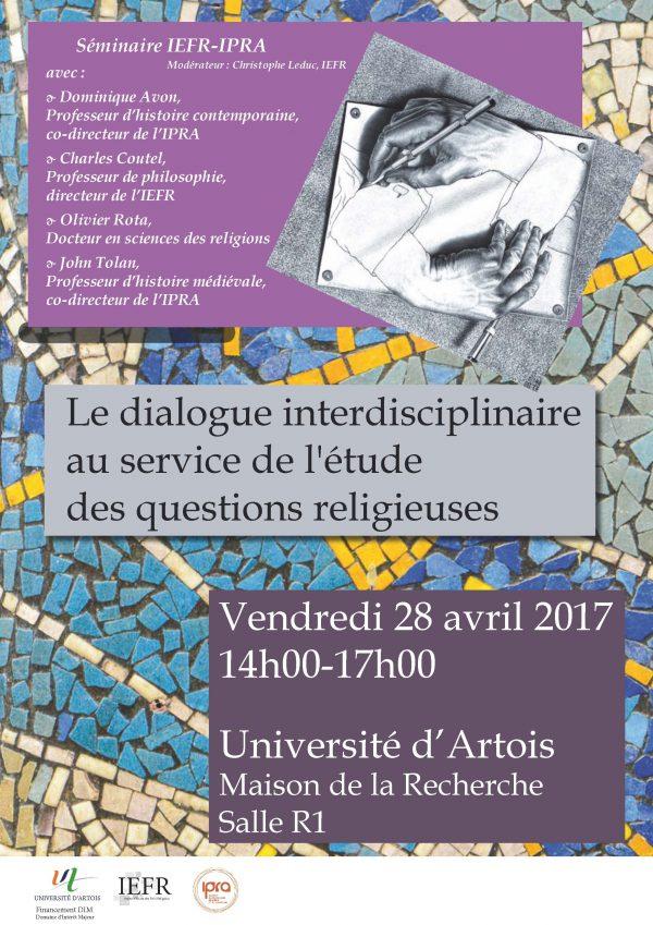 Le dialogue interdisciplinaire au service de l'étude des questions religieuses