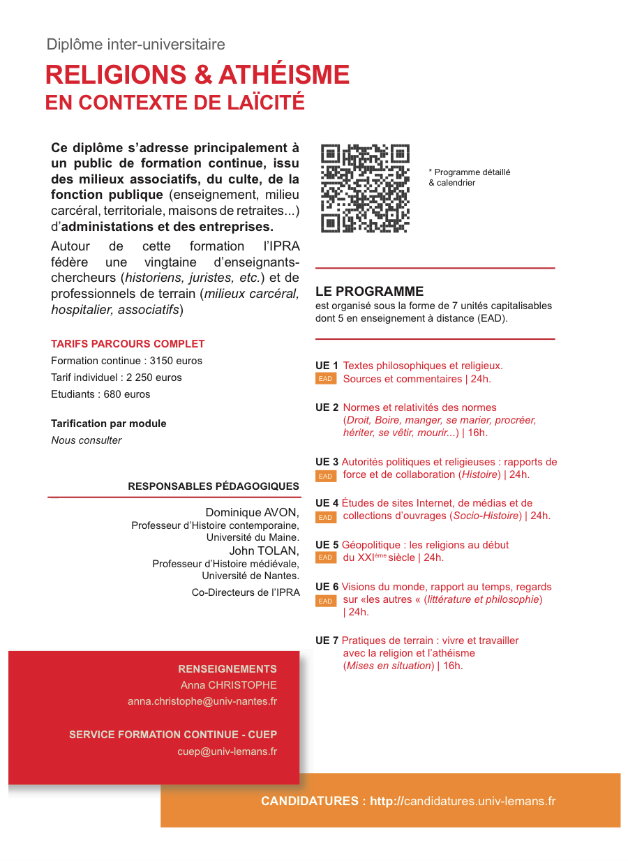 Calendrier Univ Nantes.Inscriptions Diu Ipra 2017 2018 Ouvertes Ipra
